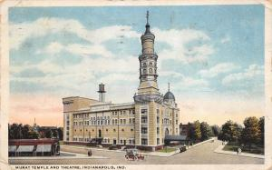 Indianapolis Indiana 1915 Postcard Murat Temple and Theatre