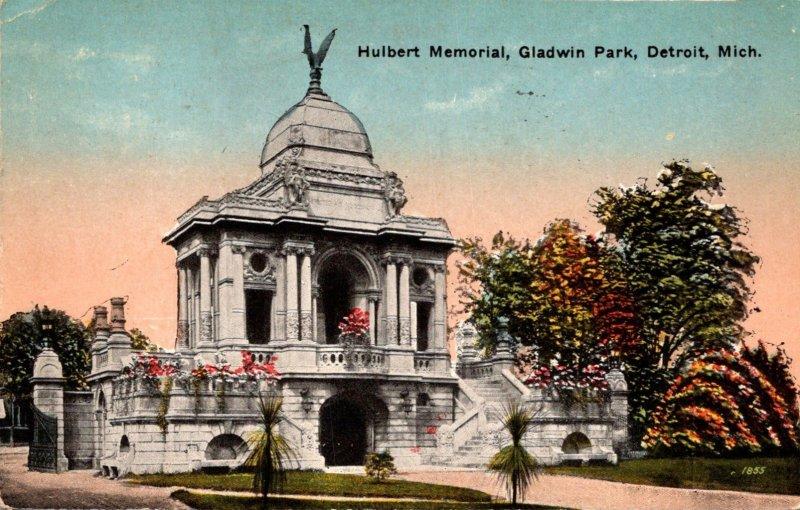 Michigan Detroit Gladwin Park Hulbert Memorial 1917
