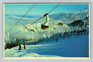 Franconia Notch NH- New Hampshire, Aerial Tramway, Chrome Postcard