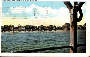 Maine Old Orchard View From Pier 1922