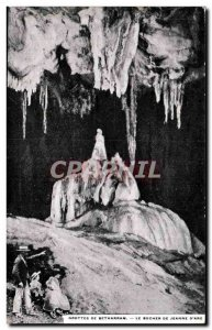 Old Postcard Caves of Betharram The pyre of Joan of Arc