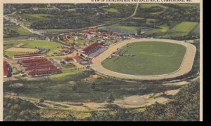 Maryland Cumberland View Of Fairgrounds & Racetrack