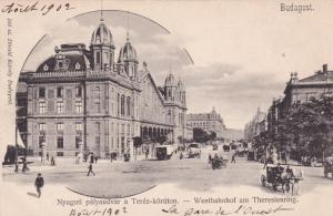 BUDAPEST , Hungary, 1890s : Westbahnhof am Theresienring
