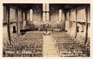Minneapolis MN~Mission Farms Chapel Interior~Glorify Thy Name Banner~1953 RPPC