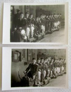 LOT OF 2 ANTIQUE RPPC REAL PHOTO POSTCARDS - MINING MUSEUM (?)