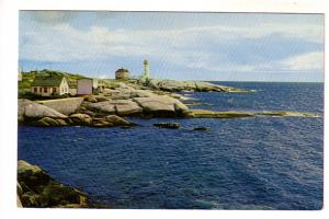 Lighthouse from a Distance, Peggy's Cove, Nova Scotia, Split Ring Cancel