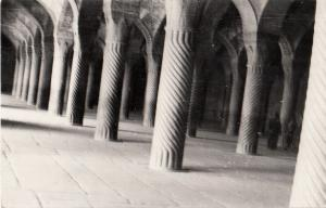 Iran Real Photo Postcard the Mosque of Vakil Shiraz interior real photo postcard