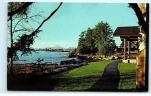 *Mt. Edgecumbe from Sitka National Monument Alaska Vintage Postcard B74