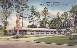 Florida Ocala Park Lane Court 1955
