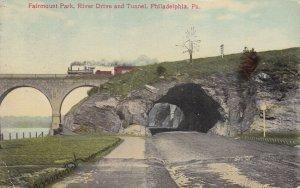PHILADELPHIA, Pennsylvania, PU-1910; Fairmount Park, River Drive And Tunnel