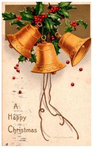 Christmas ,  Golden Bells , Ellen Clapsaddle
