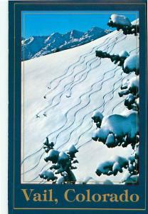 Vail Colorado Skiers Snow Skiing Milts Face Fresh Powder  Postcard  # 7915