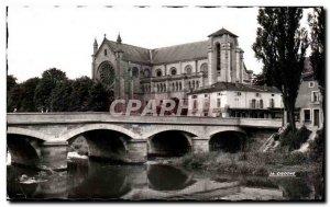 Old Postcard Bar Le Duc (Meuse) Bridge and Church of Saint John