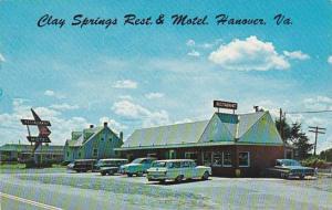 Virginia Richmond Clay Springs Restaurant 1964