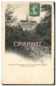 Old Postcard Monastery of St. Mary of La Pierre qui Vire L & # 39eglise for t...