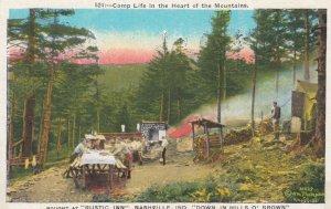 NASHVILLE , Indiana , 1910s ; Rustic Inn Camp Area