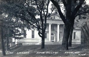 USA Lane Library Ripon College Ripon Wisconsin RPPC 03.31