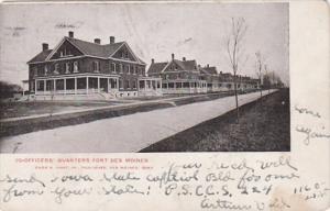 Iowa Des Moines Officers Quarters Fort Des Moines 1906