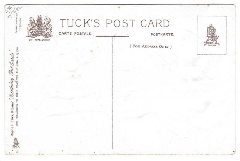 Tuck Fantasy Birthday Postcard Children Morning Glories