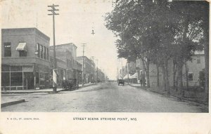 LP60 Stevens Point   Wisconsin  Postcard St Scene