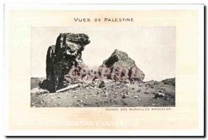 Old Postcard Views of Palestine Ruins Walls of Ascalon
