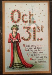 Mint Vintage USA Picture Postcard PPC  Halloween October 31st
