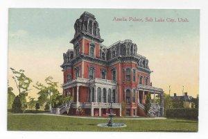 Salt Lake City Utah Amelia Palace Gardo House Vintage ca 1915 Postcard