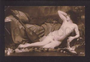073684 NUDE Lady BELLE w/ MANDOLIN vintage PHOTO NPG