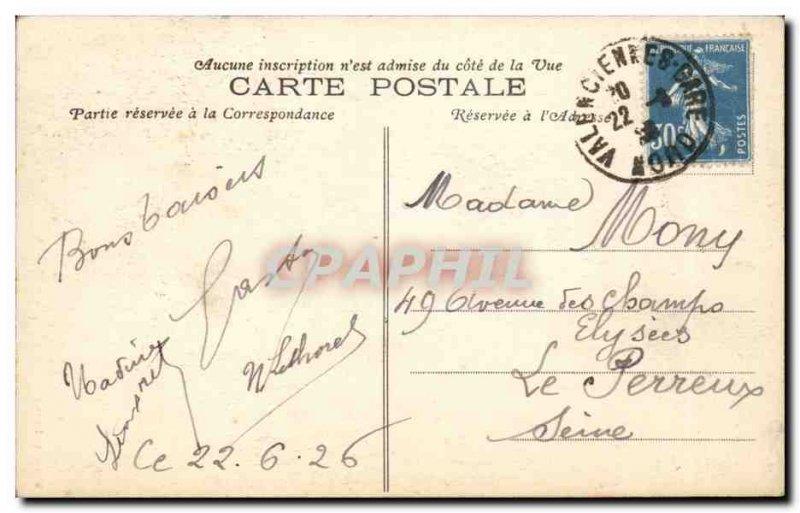 Valenciennes - Le Fronton L & # 39Hotel Vile - Old Postcard