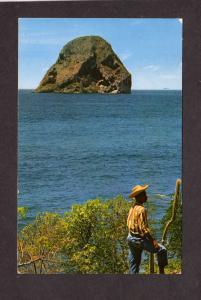 Martinique Diamond Rock Postcard Carte Postale Caribbean island Lesser Antilles