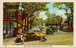Main Street Looking East Nantucket MA Mass Unused Vintage Postcard F25