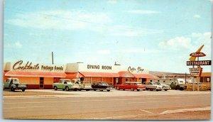 Springerville, Arizona Postcard REED'S RESTAURANT Highway 60 Roadside c1960s