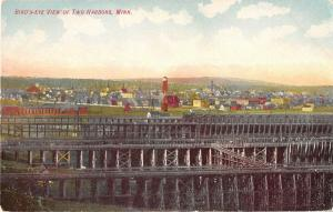 Two Harbors Minnesota Birds-Eye View of The Area Antique Postcard V11611