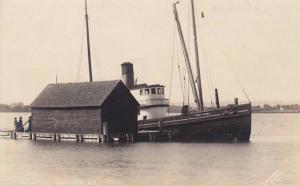 RP; High Tide, Fishing Boat Prince Albert., Wolfvile, Nova Scotia, Canada, ...