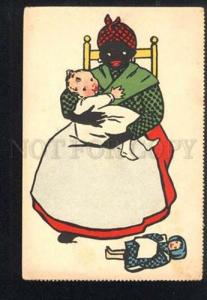 042581 BLACK AMERICANA Nurse & White Baby vintage ART DECO TSN