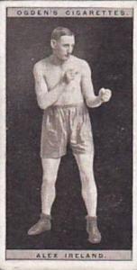 Ogdens Vintage Cigarette Card Pugilists In Action 1928 No 20 Alex Ireland