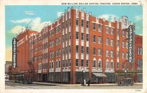 Cedar Rapids Iowa Million Dollar Capitol Theatre Antique Postcard K30901