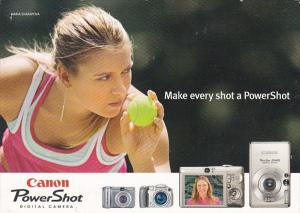 Advertising Canon Power Shot Digital Camera Maria Sharapova 2005