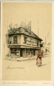 UK - England, London, The Old Curiosity Shop Artist Signed: Bates
