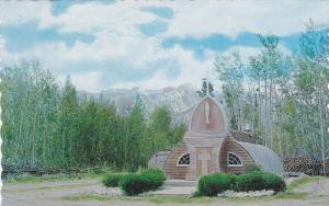 Picturesque Northern Church at Haines Junction,  Mile 1016 Alaska Hwy,  Yukon...