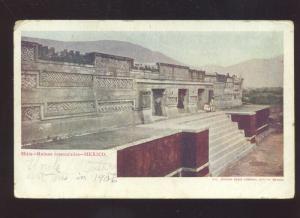 MITLA RUINS RESTAURADAS MEXICO 1906 VINTAGE MEXICAN POSTCARD