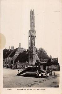 Kettering Northamptonshire England Geddington Cross real photo pc Y11582