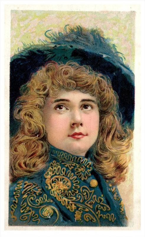 W Duke Sons & Co - Cigarette Tobacco Card Gems of Beauty Woman