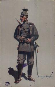 German Military Soldier/Officer in Uniform Aluschwitz Kurettski 1915 WWI PC #5