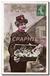 Postcard Old Postcards Trading Post postmistress