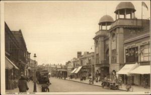 Harrow UK Station Road c1915 Postcard