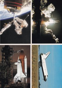 Space Shuttle Maiden Voyage Astronauts Discovery Orbiter 4x Postcard s