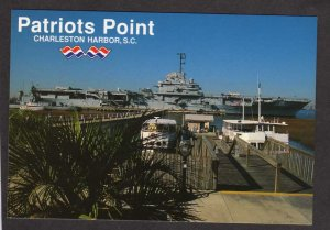 SC Navy Naval Ship Charleston South Carolina Postcard Yorktown CV-10 Patriots