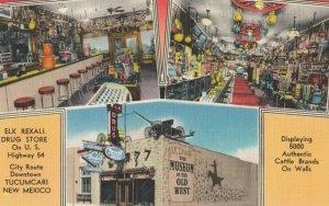 TUCUMCARI , New Mexico , 30-40s ; Elk REXALL Drugstore