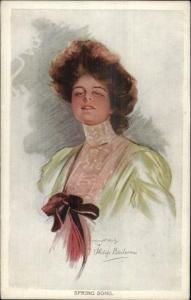 Philip Boileau Beautiful Woman SPRING SONG c1910 Postcard